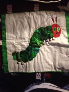 caterpillar tag blanket